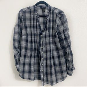 Style & Co Button Down Flannel Print Shirt